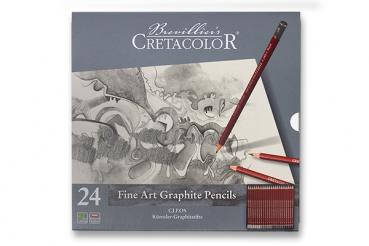 Cretacolor Fine Art Graphite | Set mit 24 Bleistiften