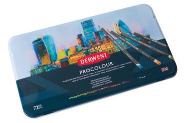 Derwent Procolour | Metalletui mit 72 Künstlerfarbstiften