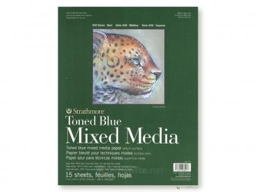 Strathmore 400 Toned Blue Mixed Media ca. 28 x 36 cm