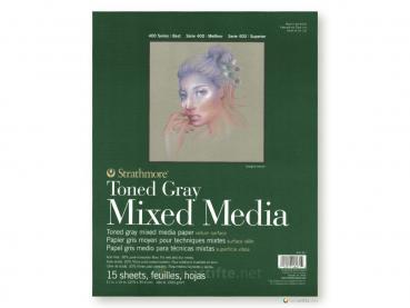 Strathmore 400 Toned Gray Mixed Media ca. 28 x 36 cm