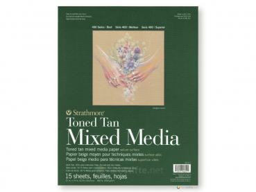 Strathmore 400 Toned Tan Mixed Media ca. 28 x 36 cm