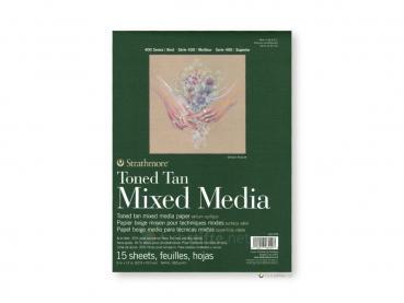 Strathmore 400 Toned Tan Mixed Media ca. 23 x 30 cm