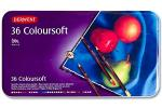 Derwent Coloursoft | Metalletui mit 36 Stiften